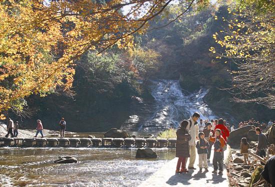 紅葉の時はとくに見事ですが、年中過ごしやすい養老渓谷