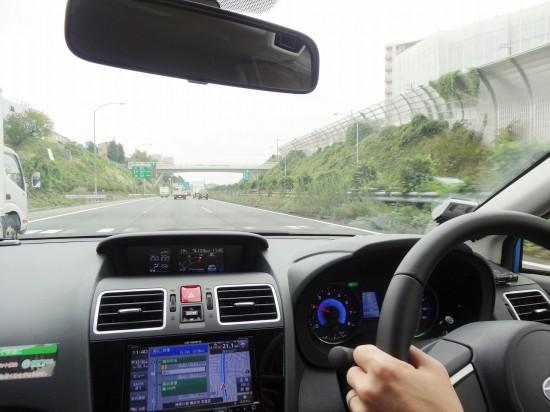 アイサイトの追従機能付きクルーズコントロールで高速道路も快適!