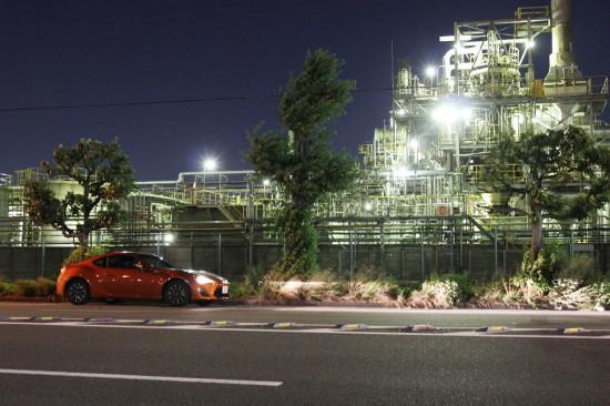 千鳥町エリアの工場夜景とハチロク