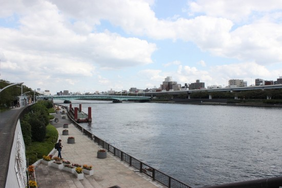 隅田公園は隅田川の両岸に分かれている