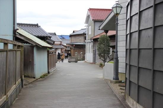 駐車場から歩く道がすでに江戸情緒たっぷり!