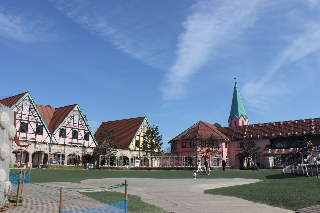 ドイツの町並みが再現されています。真ん中が「おかの上ステージ」