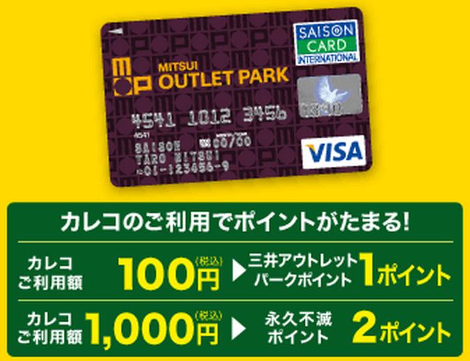 三井アウトレットパークカードもおトクにポイントがたまる