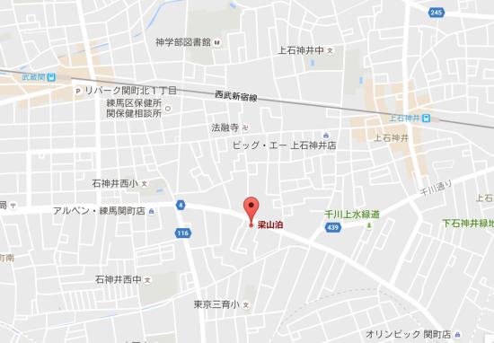 梁山泊には上石神井駅からも武蔵関からも歩くには微妙な距離
