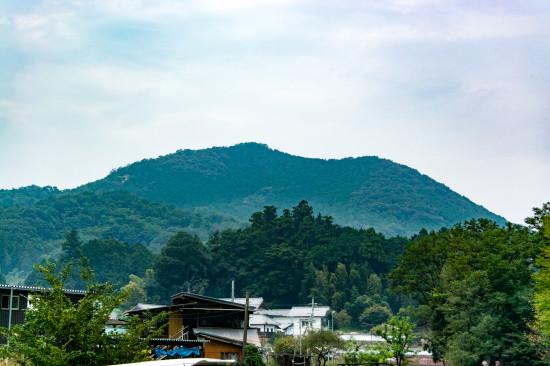巾着田をのぞむ日和田山の上からは、まさに巾着の形が見られるという