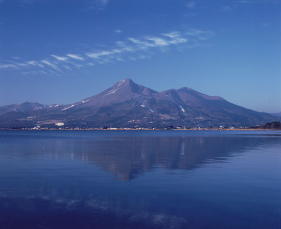 湖面に映る磐梯山も美しいですね