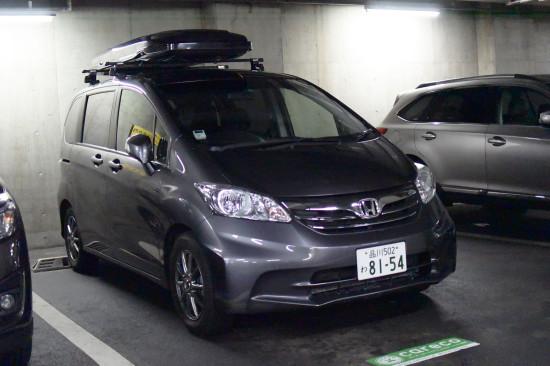 渋谷セルリアンタワー地下駐車場のフリード