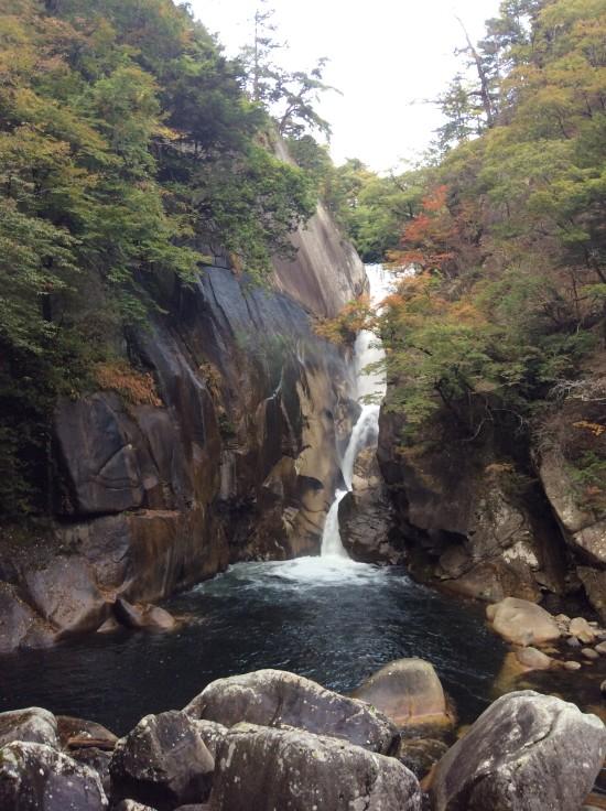 山梨の景勝地、昇仙峡にある仙娥滝
