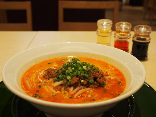 中国料理「DOLL BY WAKIYA」で白胡麻担々麺の夕食。白胡麻のコクとマイルドな辛さが美味