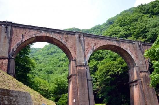 明治時代に建設された日本最大のめがね橋