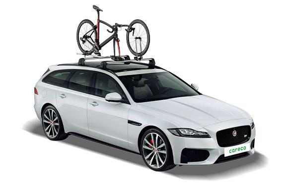 自転車の搭載イメージ。前輪を外して搭載していることがわかる