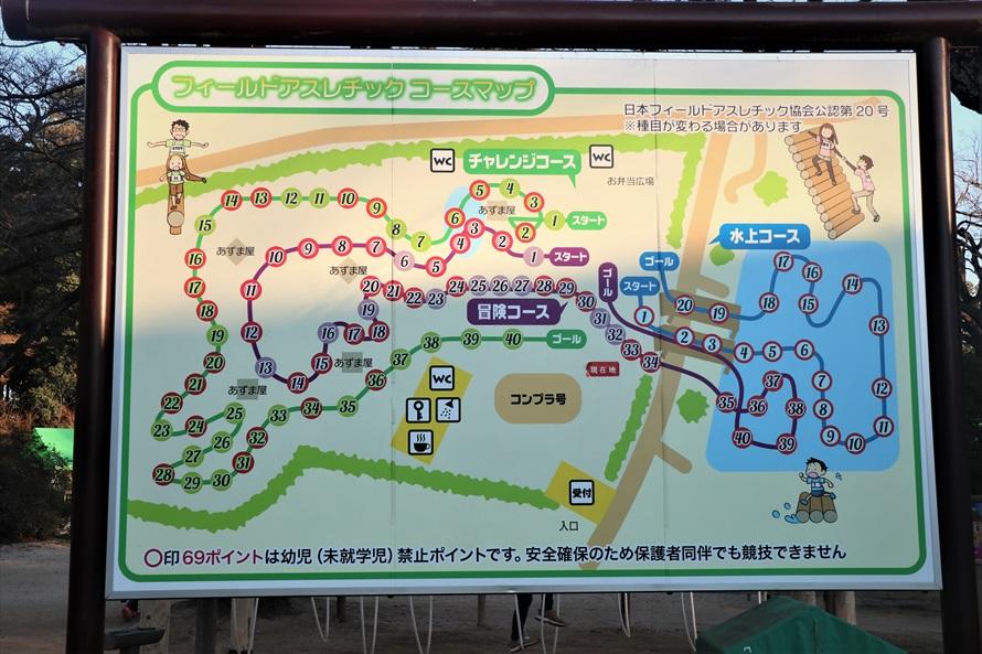 コースは3種類。「冒険コース」「チャレンジコース」「水上コース」