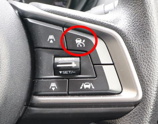 1.右上のクルーズスイッチを押す