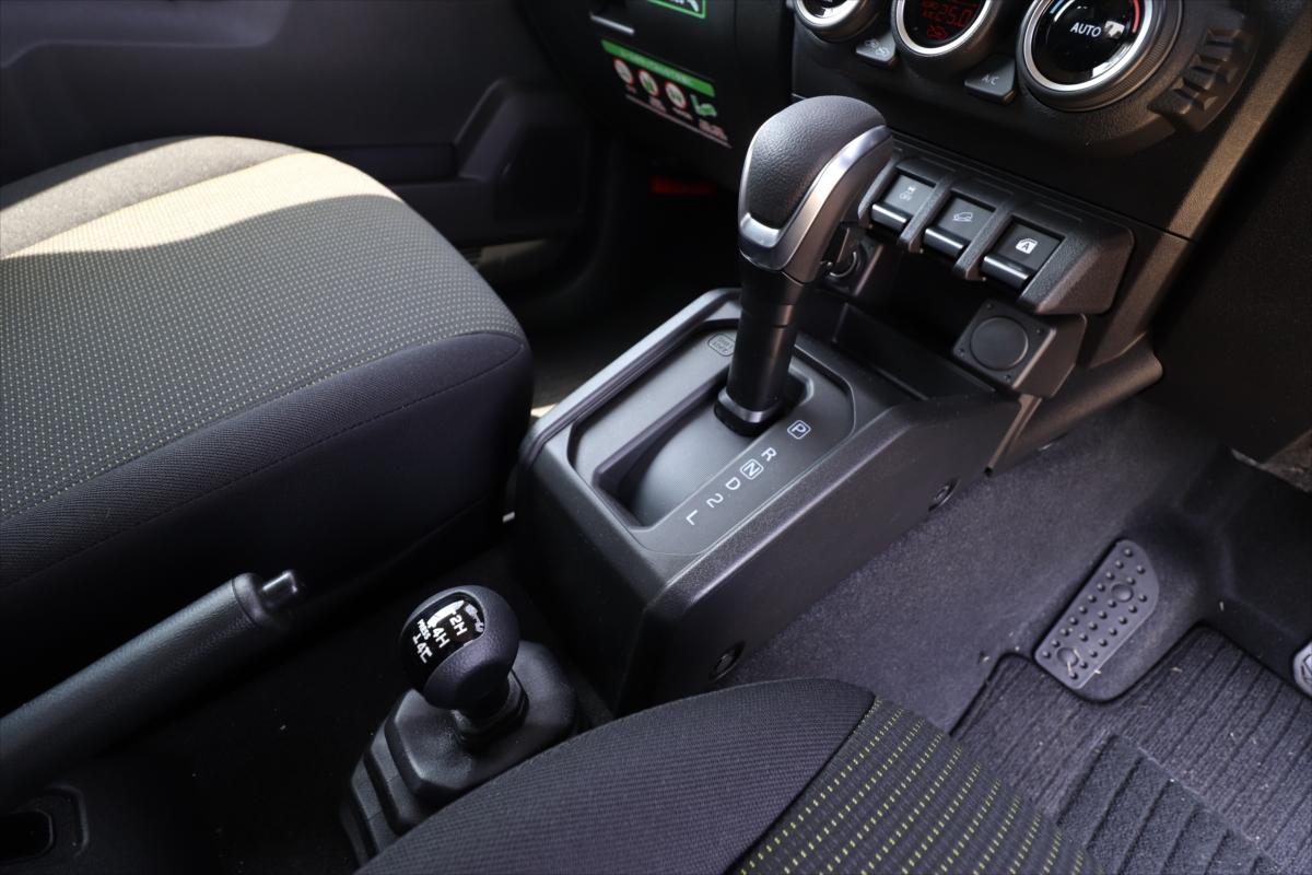 シフトレバーの後ろにあるのは4WDの切り替えレバー。通常は「2H」のまま動かさなくてOK