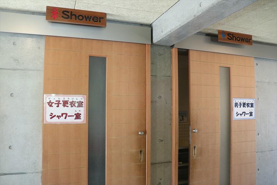 更衣室とシャワー室は設備が新しく利用しやすい