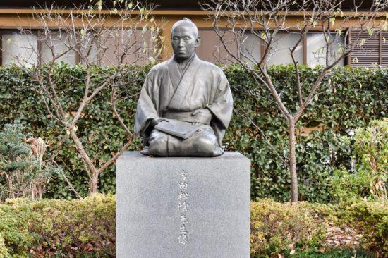2013年に完成した吉田松陰のブロンズ像