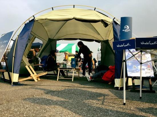 広々空間でゆったり楽しめるテント