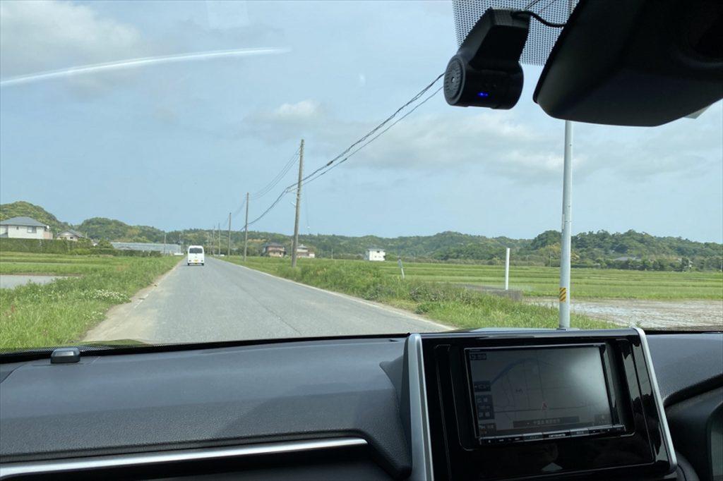 のどかな光景が続き、のんびりとした気分のドライブが楽しめる