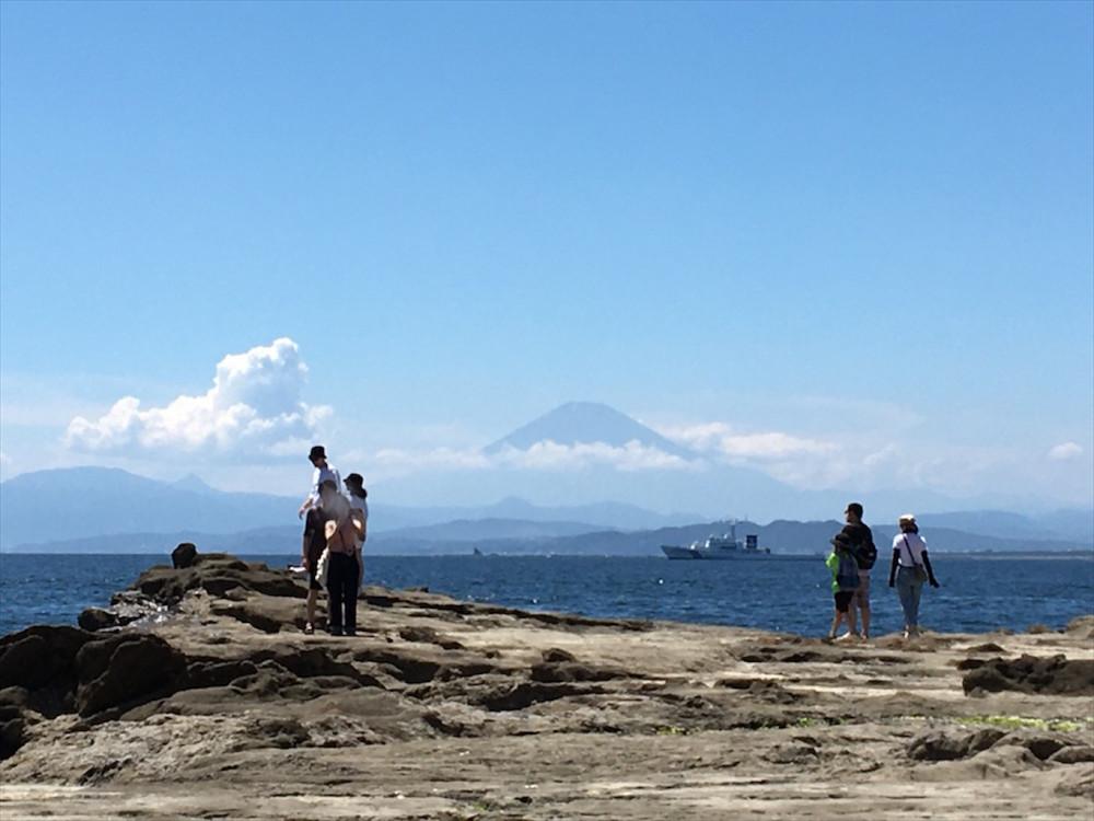 夕方になると、富士山の向こう