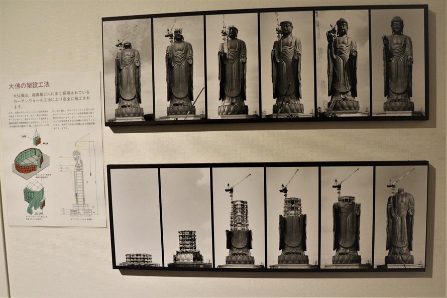 大仏の架設工法は、超高層ビルと同じ