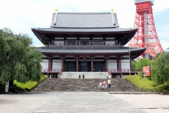 徳川将軍家とのゆかりの深い「増上寺」