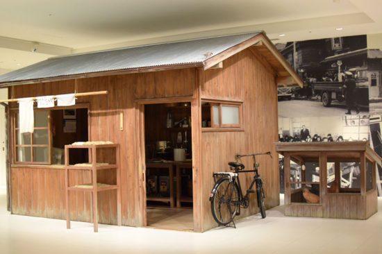 安藤百福がチキンラーメンの開発をおこなった研究小屋のジオラマ