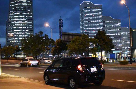 帰りは横浜の夜景を楽しみながらドライブ