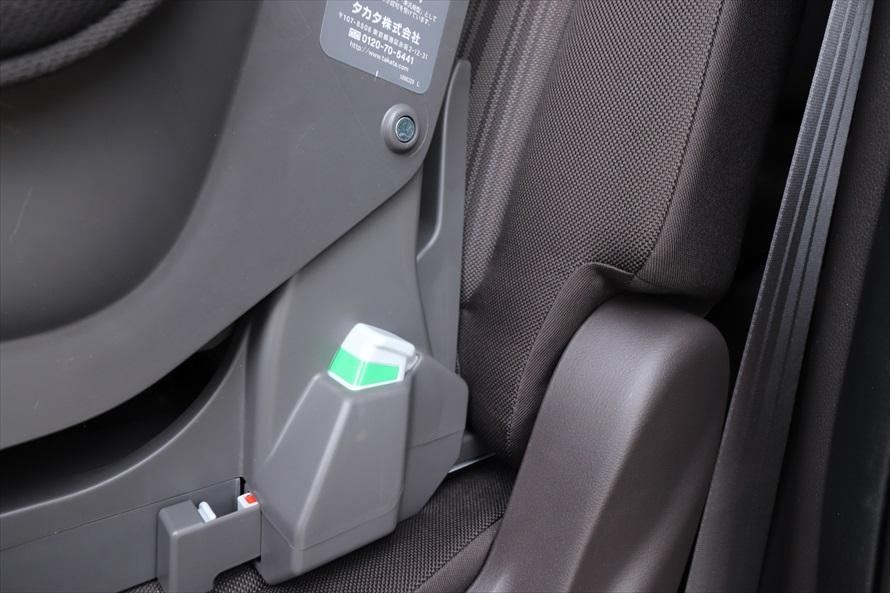 ベースの脇にあるボタンの表示が緑になっていることを確認