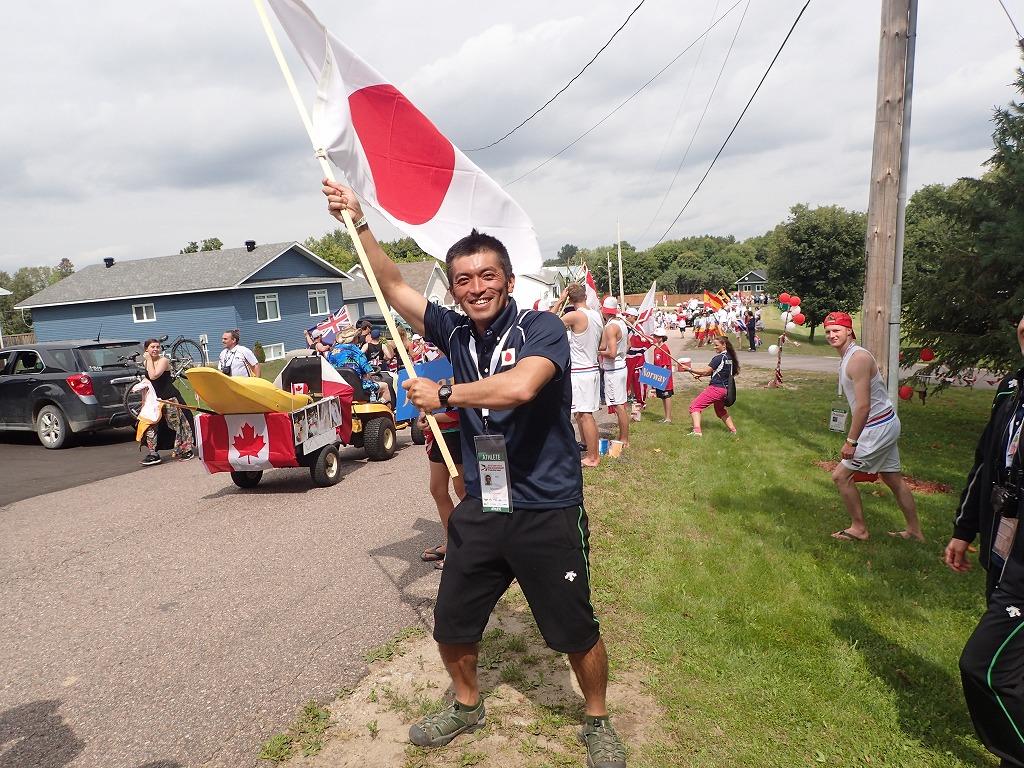 店長の柳本さん。カヤックの世界大会に出場された時の記念写真