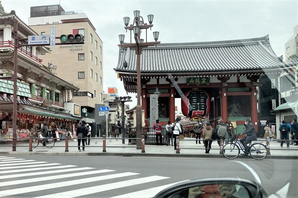 東京の観光名所「雷門」から「東京ミズマチ」までは約1km