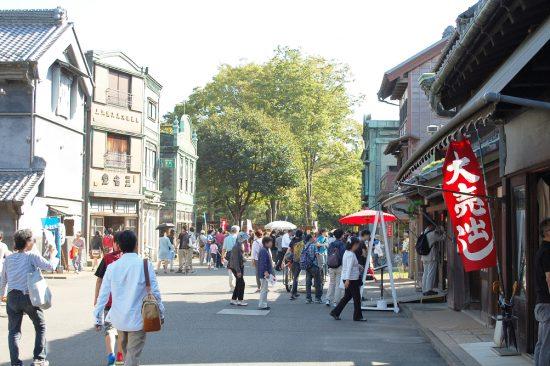 東ゾーンの「下町中通り」では、様々なイベントが催される