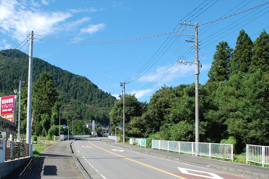 西沢大橋を渡ったあたりから、景色は緑に包まれる
