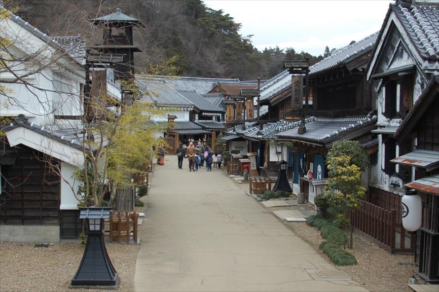 江戸ワンダーランドの町並みは、江戸時代の中期を再現している