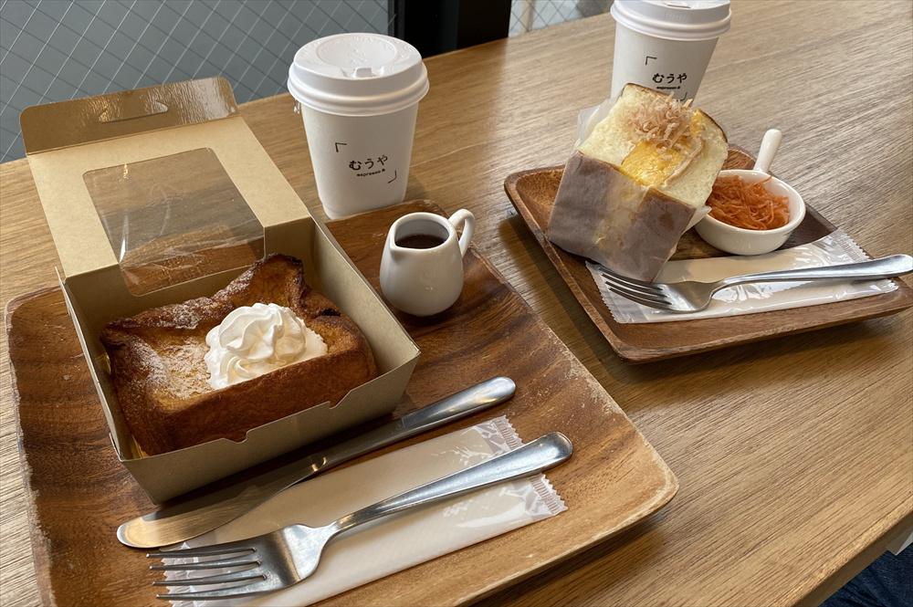 左から「餡フレンチトーストセット」と「サンドイッチセット」。値段はどちらも773円(税別)。それぞれ単品でも購入できる
