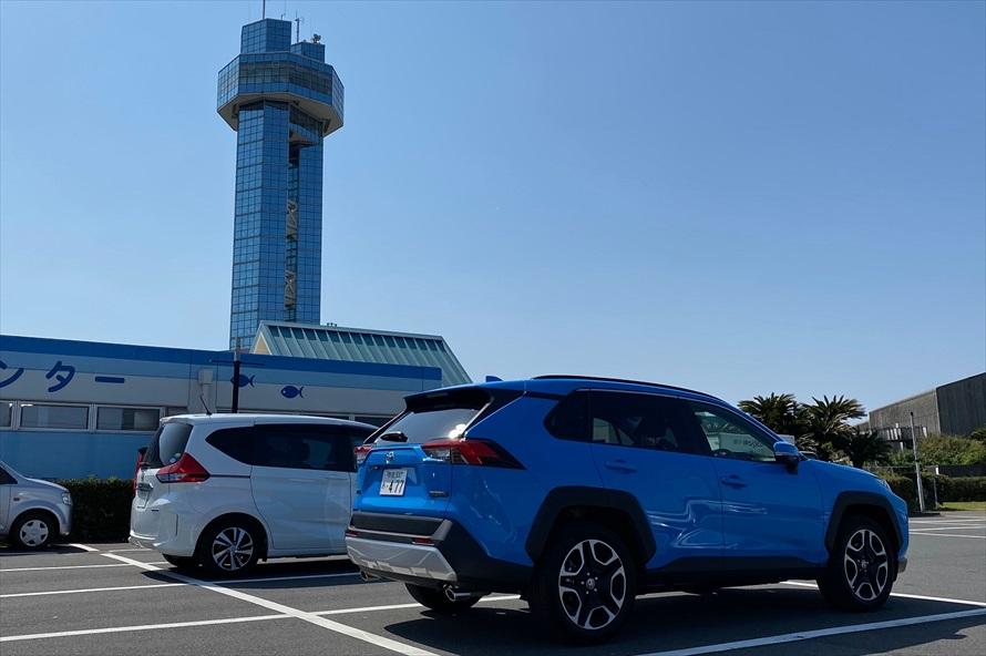 「銚子ポートタワー」の展望台からは、眼下に銚子漁港を一望できる