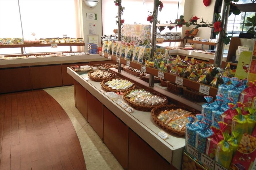 洋菓子や和菓子だけでなく、ケーキやプリンなどの生菓子も売っている