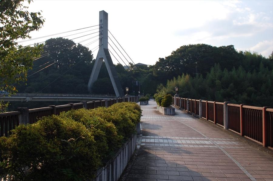 聖地としてもっとも知名度がある「旧秩父橋」。橋から降りる階段もキービジュアルに使用されている