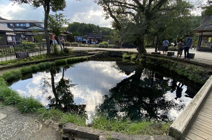 「八海」はそれぞれが霊場(禊ぎの場)とされ、画像の「湧池」は「五番霊場」に位置づけられている