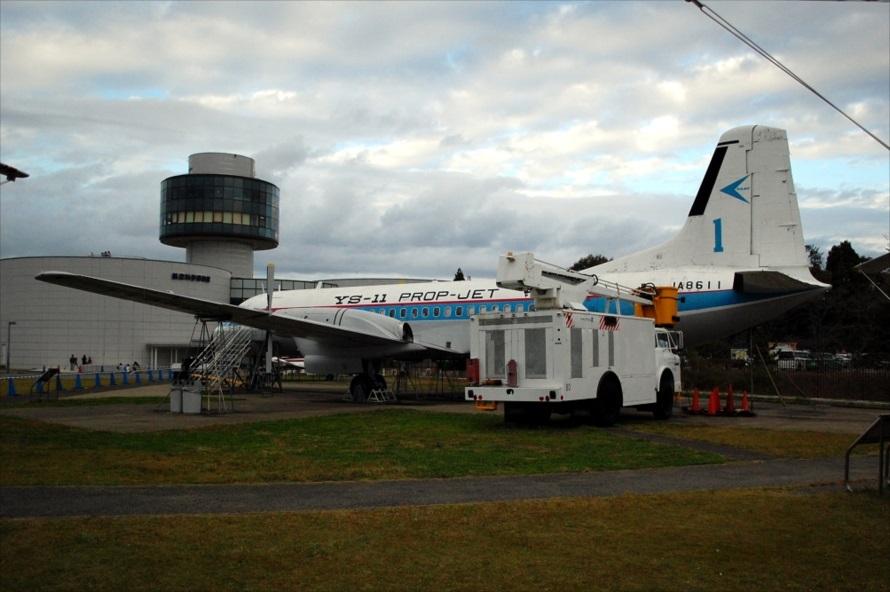 この「YS-11」試作機が展示されているのは、航空科学博物館だけ