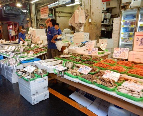 定番の海産物。品揃えも安さもピカイチ!