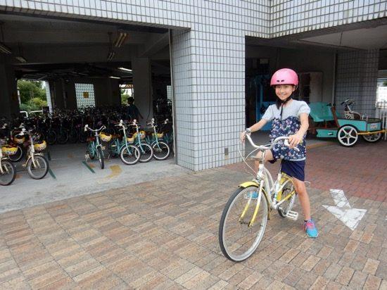ピッタリサイズの自転車をみつけて、いざ出発!