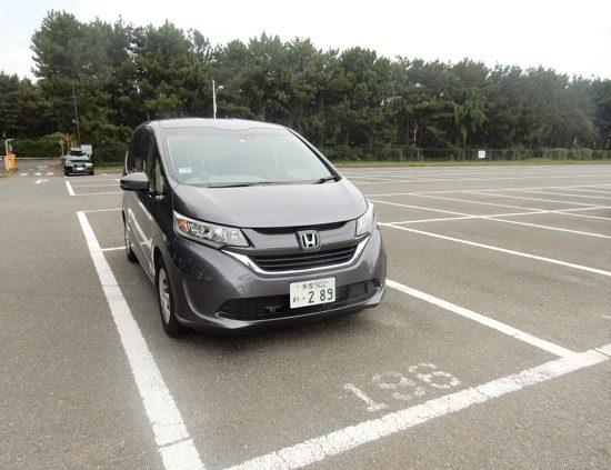 交通公園のそばにある西駐車場が便利