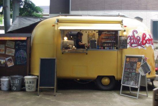 エアストリームのカフェ「Bambi」