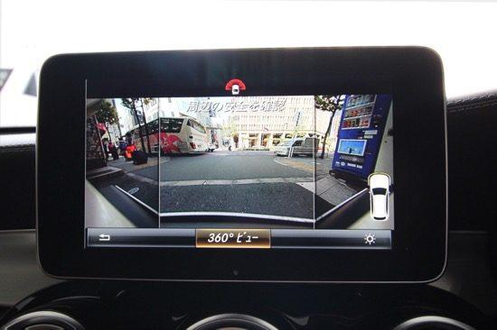 駐車時はもちろん、狭い道などで前方を確認したいときにも役立つ360°カメラシステム