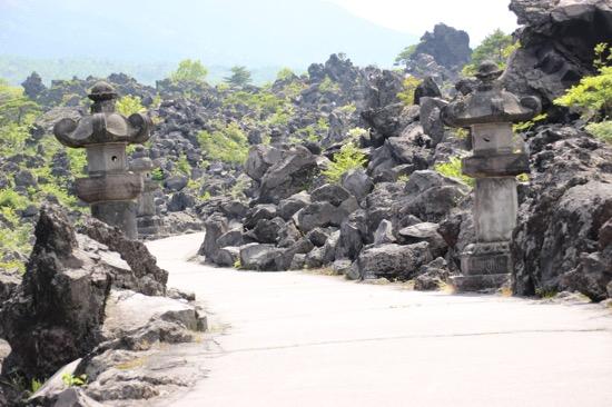 「溶岩の芸術」とも言われる不思議な景色が続く。四季折々の高山植物を見ることも