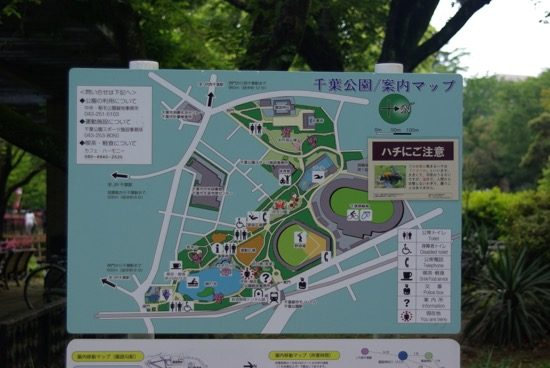 千葉公園の案内マップ