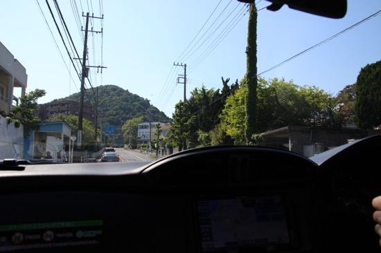 葉山に近づくに連れて緑が増えてくる。ドライブが気持ちいいルートだった
