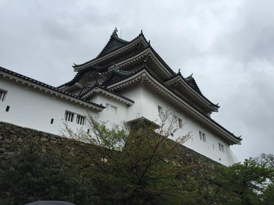 高さ23.4mの天守閣、「暴れん坊将軍」などの撮影でも使われたという。