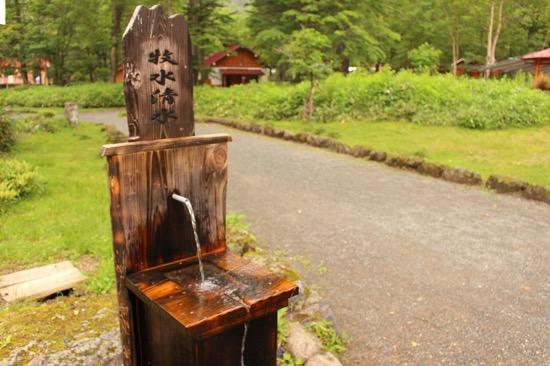 名物の白根山水系の名水。ペットボトルを持参するのもおすすめ